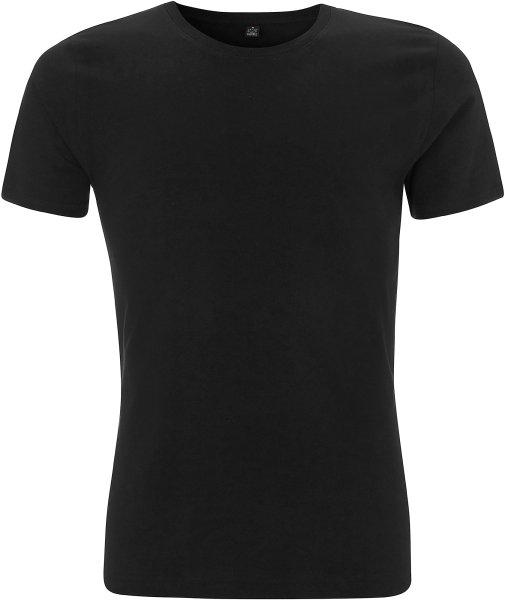 Herren Slim Fit T-Shirt schwarz Bio-Baumwolle