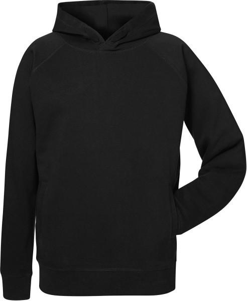 Base - Klassischer Kapuzenpullover aus Bio-Baumwolle schwarz - Bild 1