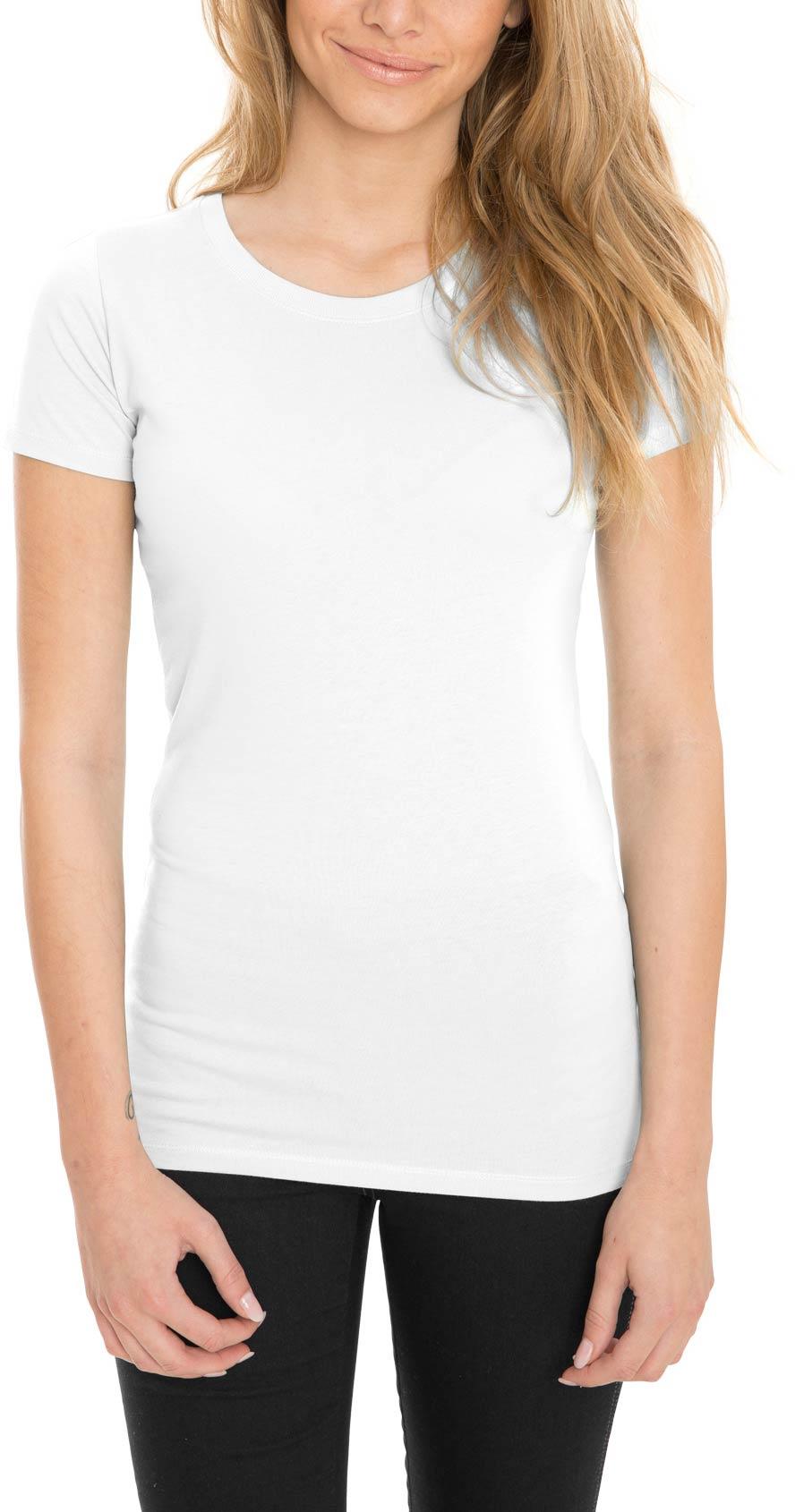 weißes basic t-shirt damen
