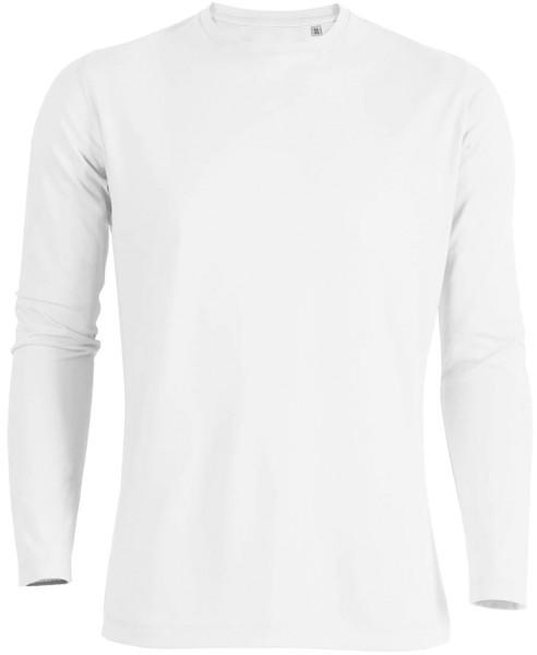 Shuffles - Langarmshirt aus Bio-Baumwolle - weiss