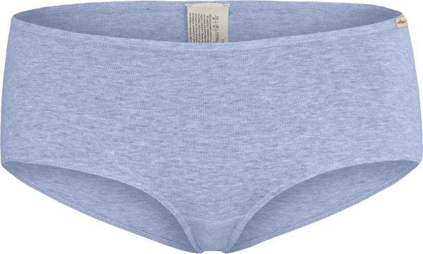 Panty aus Fairtrade Biobaumwolle - blau-meliert