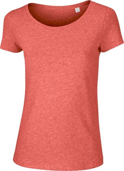 Loves - Jerseyshirt aus Bio-Baumwolle - rot meliert