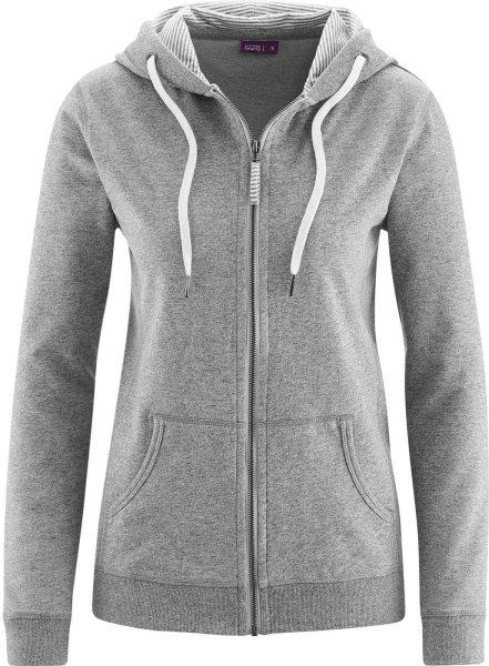 Wellness-Jacke aus Bio-Baumwolle - stone grey