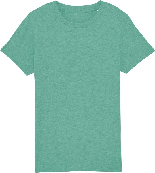 Kinder T-Shirt aus Bio-Baumwolle - mid heather green