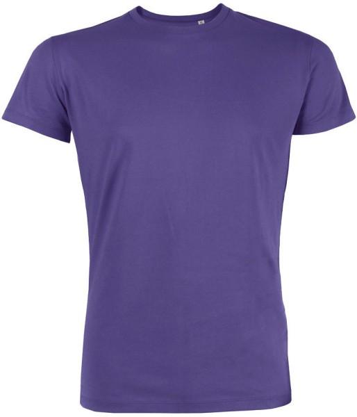 Leads - Kurzarmshirt aus Bio-Baumwolle - purple