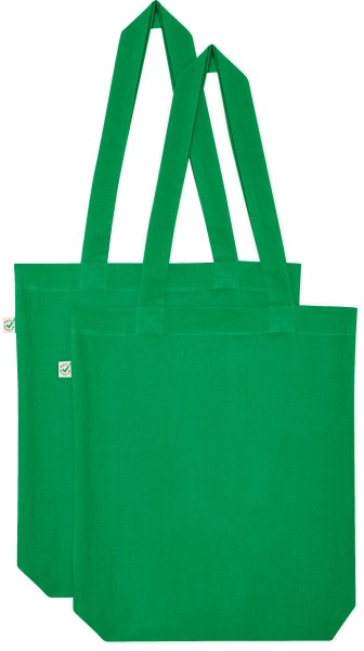Doppelpack - Organic Cotton Bag - kelly green