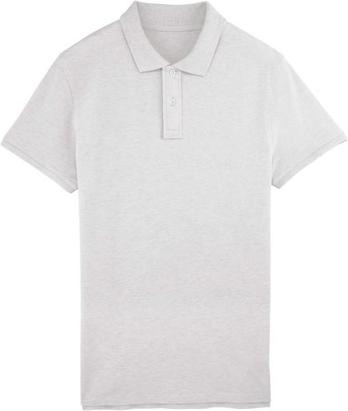Piqué-Poloshirt aus Bio-Baumwolle - cream heather grey