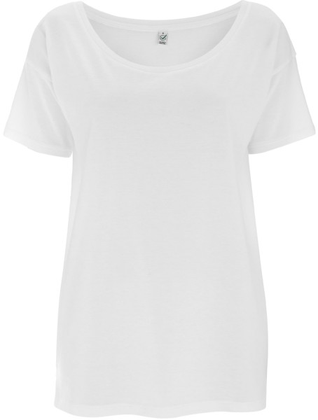 Oversized T-Shirt Tencel weiss EP46