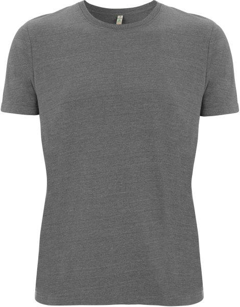 Recycled T-Shirt aus Baumwolle und Polyester - melange heather