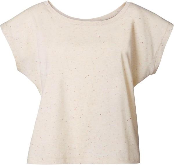 T-Shirt mit U-Ausschnitt - ecru neppy mandarine