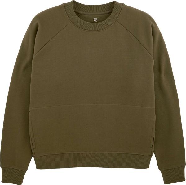 Kurzes Raglan-Sweatshirt aus Bio-Baumwolle - british khaki