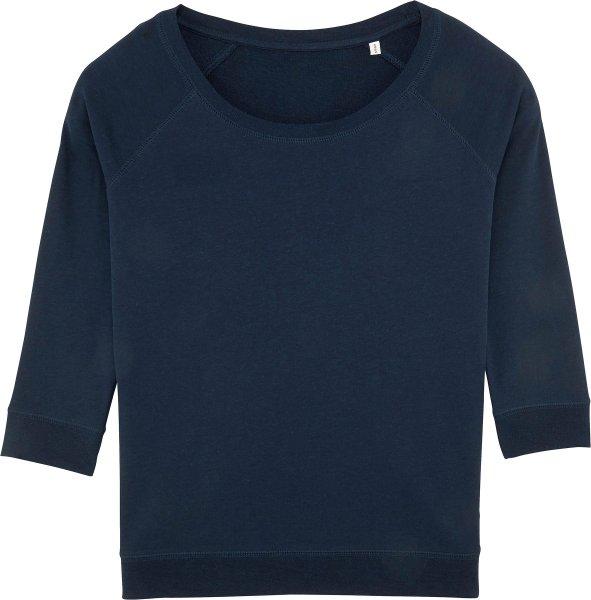 3/4-Arm Sweatshirt aus Bio-Baumwolle und Tencel - french navy
