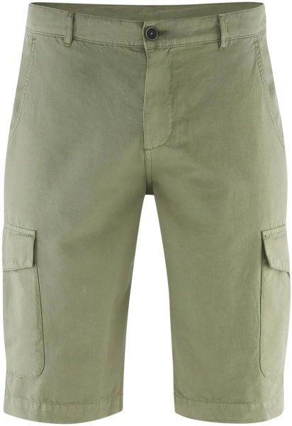 Cargo Shorts oliv bio fair Leinen 63521