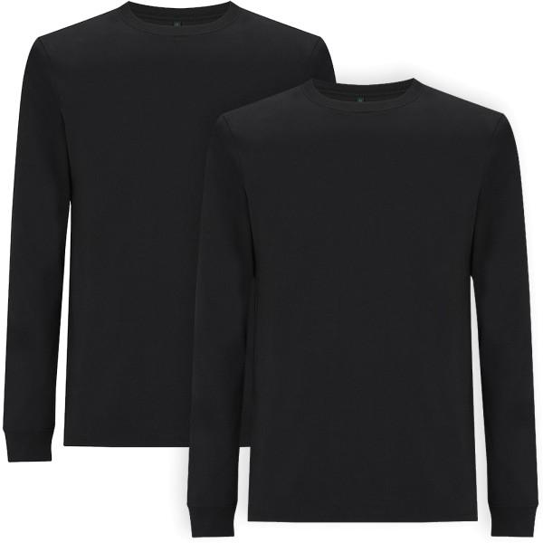 Organic Heavy Longsleeve - black - Doppelpack