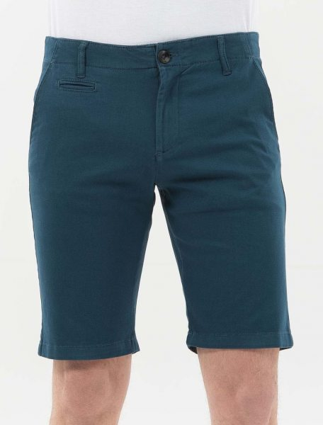 Slim Fit Shorts aus Bio-Baumwolle - navy