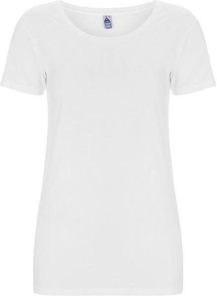 Weißes Damen Shirt Fairtrade Biobaumwolle FS09