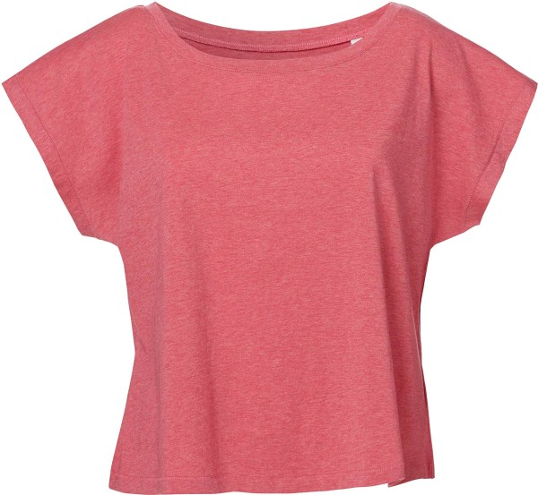 Flies - T-Shirt mit U-Ausschnitt - heather cranberry