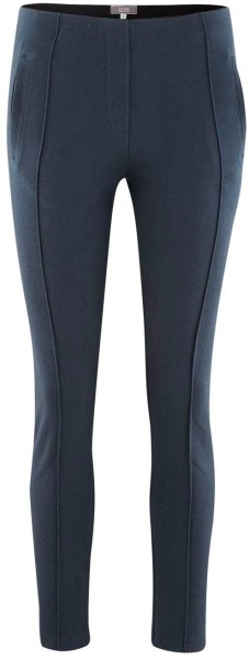 Jersey-Hose mit Biesen aus Bio-Baumwolle - ink blue