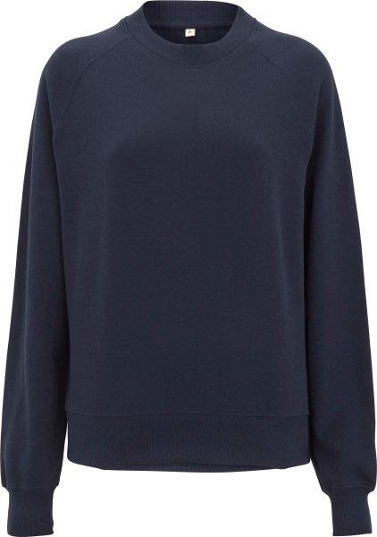 Raglan Sweatshirt aus Biobaumwolle - navy