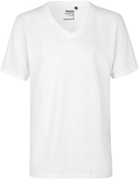 Organic Deep V-Neck T-Shirt Fairtrade weiss