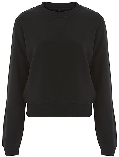 Cropped Sweatshirt - black