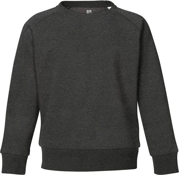 Unisex Kinder Sweatshirt Bio-Baumwolle - dark heather grey