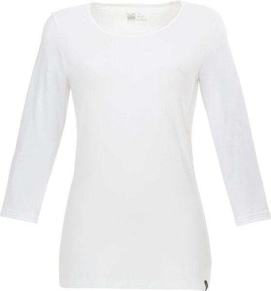 3/4-Shirt aus Viskose - weiss