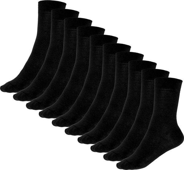 10er-Pack Premium-Socken aus Bio-Baumwolle - schwarz