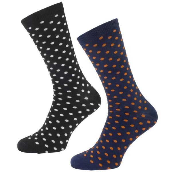 Socken aus Bio-Baumwolle - 2er-Pack - gepunktet