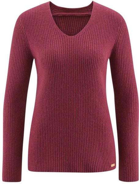 Strickpullover aus Bio-Baumwolle und Bio-Wolle - winter pink