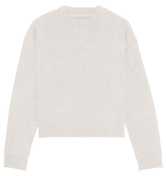 Kurzes Sweatshirt Bio-Baumwolle - cream heather grey