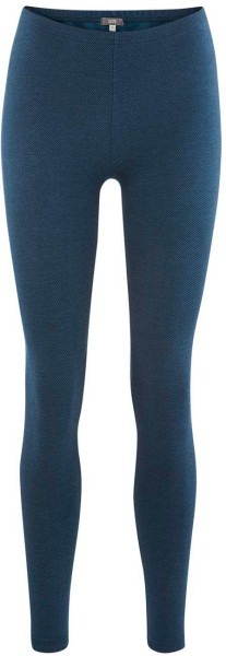 Winter-Leggings aus Bio-Baumwolle – indigo blue