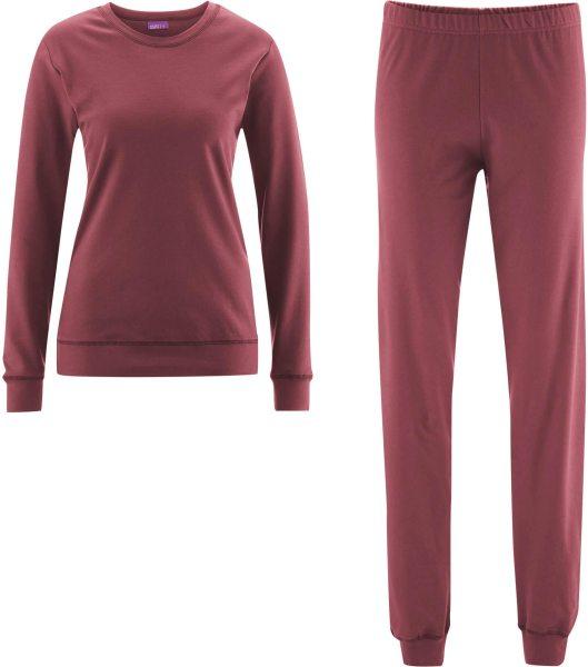 Frauen Schlafanzug aus Bio-Baumwolle - winter rose