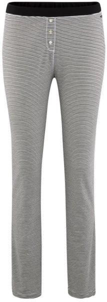 Schlaf-Hose aus Bio-Baumwolle - offwhite/stripes