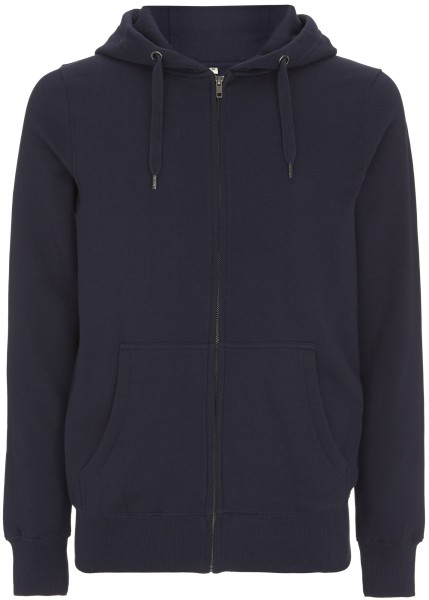 Herren Sweat Jacke fair bio 51Z navy front