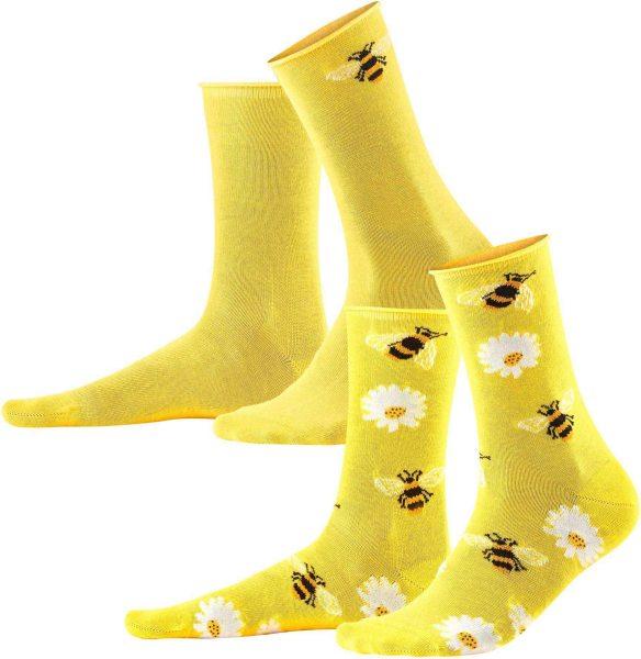 Damen Socken aus Bio-Baumwolle - 2er-Pack - sun