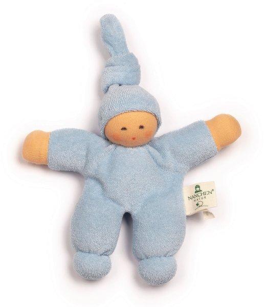 Pimpel Püppchen aus Bio-Baumwolle - hellblau - Bild 1