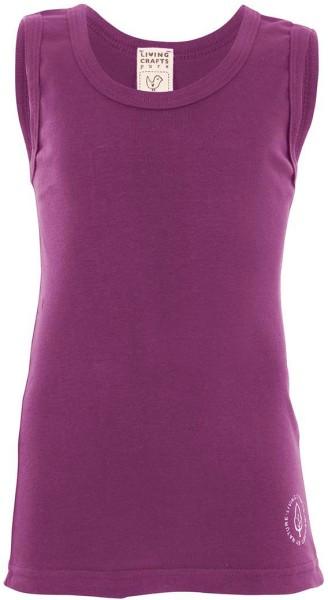 Kinder Unterhemd aus Bio-Baumwolle - purple - Bild 1