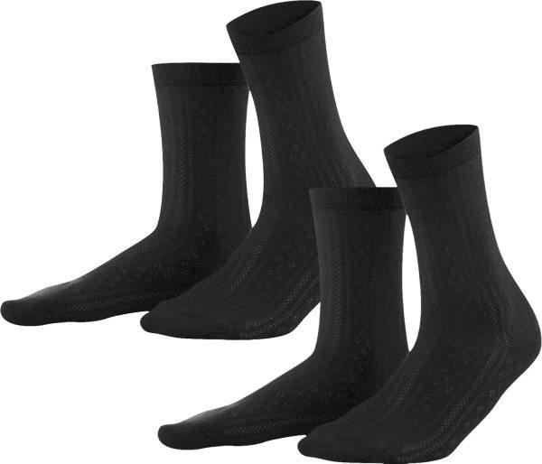 Damen Socken aus Bio-Baumwolle - 2er-Pack - black