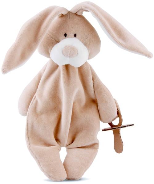Schmuse-Bunny mit Schnullerhalter - Bio-Baumwolle