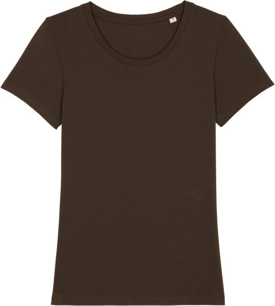 T-Shirt aus Bio-Baumwolle - deep chocolate