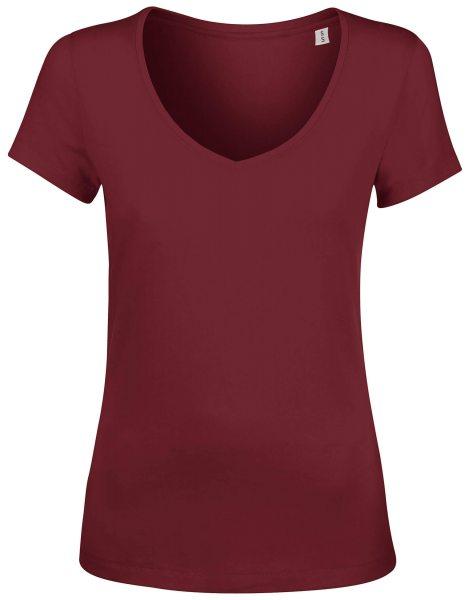 V-Neck T-Shirt Damen Biobaumwolle fair hergestellt Chooses
