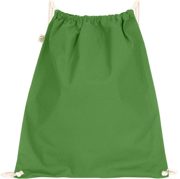 Organic Drawstring Gym Bag - leaf green