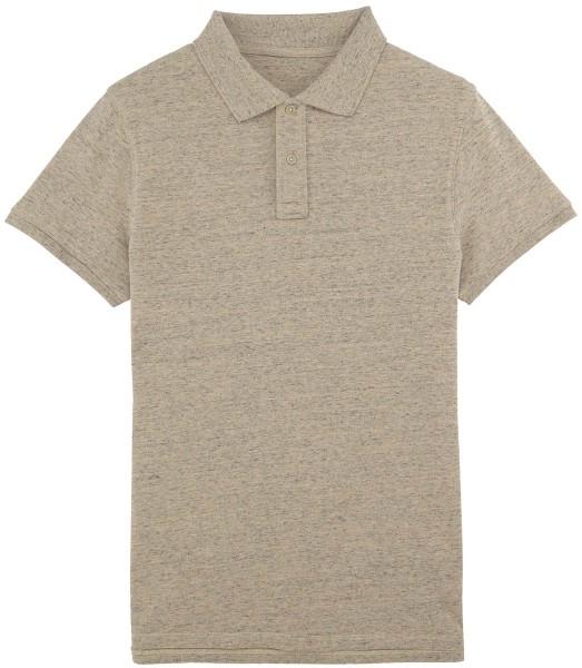 Piqué-Poloshirt aus Bio-Baumwolle - slub heather clay