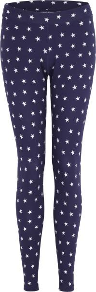 Leggings aus Bio-Baumwoll-Jersey - dunkelblau mit Sternen