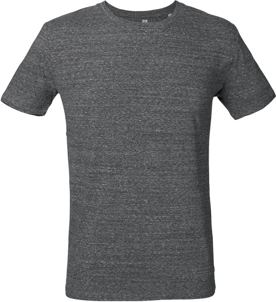 T-Shirt Bio-Baumwolle - slub heather steel grey