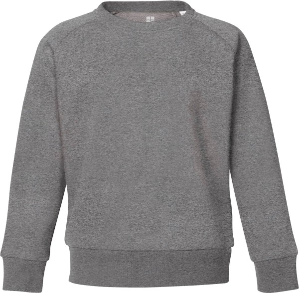 Unisex Kinder Sweatshirt Bio-Baumwolle - mid heather grey