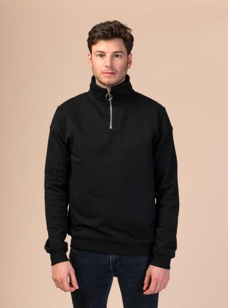 Fairtrade Sweatshirt Hari aus Bio-Baumwolle - schwarz