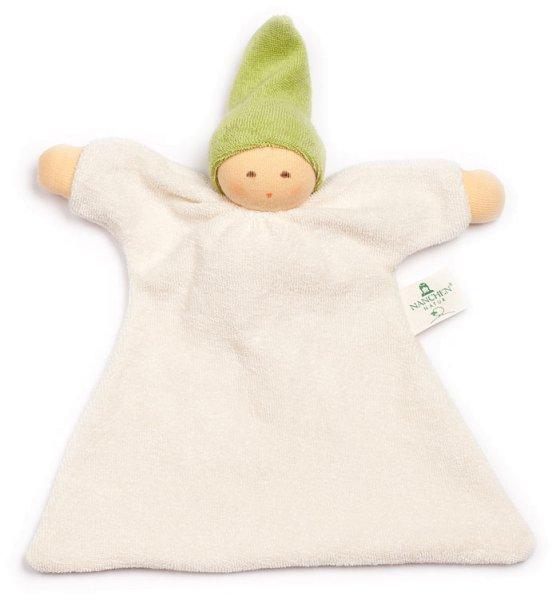 Nuckel Schmusepuppe/Tuch aus Bio-Baumwolle - grün - Bild 1