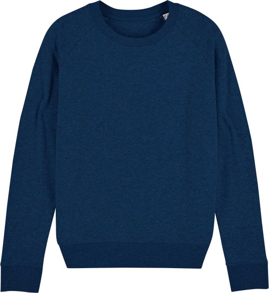 Sweatshirt aus Bio-Baumwolle - black heather blue